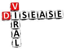3D choroby Wirusowy Crossword Obrazy Stock