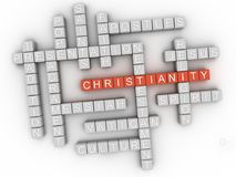 3d Christianity, religion of Bible. Word cloud sign. royalty free illustration