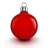 3d Christmas balls ornaments. On white background Stock Images