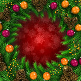 3d Christmas decoration background Royalty Free Stock Photography