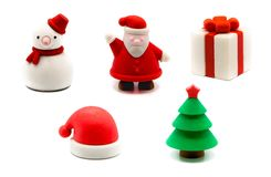 3D Christmas erasers set royalty free stock images