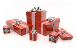 3D - Christmas Gift Box 12 Royalty Free Stock Photos