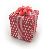 3D - Christmas Gift Box Royalty Free Stock Photography