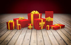 3D - Christmas Gift Boxes 18 Stock Photography