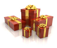 3D - Christmas Gift Boxes 8 Royalty Free Stock Image