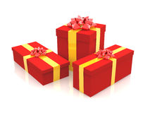 3D - Christmas Gift Boxes 1 Royalty Free Stock Photos