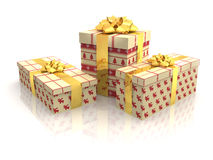 3D - Christmas Gift Boxes 7 Stock Photography
