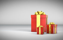 3D - Christmas Gift Boxes 15 Stock Photo