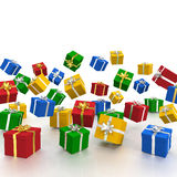 3D - Christmas Gift Boxes - Shot 10 Stock Photos