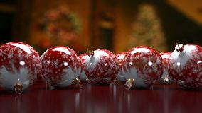 3D Christmas ornament background. Stock Photo