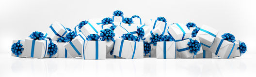 3d - christmas presents Royalty Free Stock Image