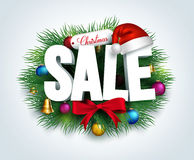 3D Christmas Sale Text for Promotion Royalty Free Stock Image