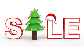 3d Christmas sale text Royalty Free Stock Images
