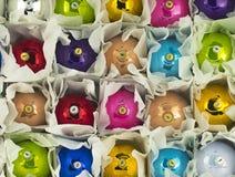 3d christmas spheres white Στοκ φωτογραφία με δικαίωμα ελεύθερης χρήσης