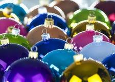 3d christmas spheres white Στοκ Φωτογραφία