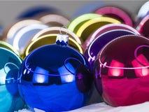 3d christmas spheres white Στοκ Εικόνα