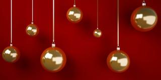 3d Christmas tree balls Stock Photo