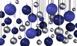 3d Christmas tree balls Royalty Free Stock Photos
