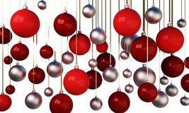3d Christmas tree balls Royalty Free Stock Images