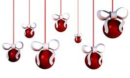 3d Christmas tree balls Royalty Free Stock Photography
