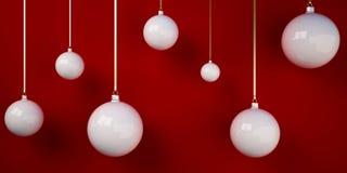 3d Christmas tree balls Royalty Free Stock Photo