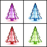 3D Christmas tree concept. Collection Royalty Free Stock Photography
