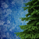 3d Christmas tree decorations background Royalty Free Stock Photography