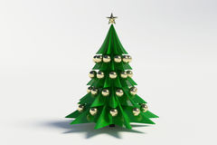 3d christmas tree. On white background Royalty Free Stock Photos