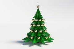 3d christmas tree. On white background Stock Illustration