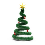 3d Christmas tree. On white background Stock Image
