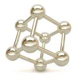 3D chrome cube. Royalty Free Stock Photo