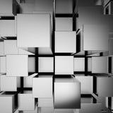 3d chromu abstrakcjonistyczni bloki Obrazy Royalty Free