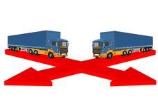 3D ciężarówki, wektorowy pojęcie projekt ilustracja wektor