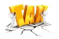 3d ciężkiego podatku biali ludzie Obraz Stock