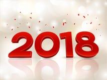 2018 3D cijfers in isometrisch 2018 meetkundeaantallen Nieuw jaarteken voor groetkaart of affiche Vector illustratie Royalty-vrije Stock Afbeeldingen
