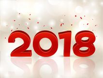 2018 3D cijfers in isometrisch 2018 meetkundeaantallen Nieuw jaarteken voor groetkaart of affiche Vector illustratie Royalty-vrije Stock Fotografie