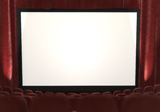 3d : Cinéma avec des projecteurs à dégrossir illustration stock