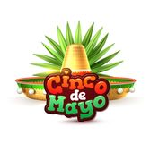 Vector cinco de mayo mexican party poster banner. 3d cinco de mayo party poster template. Festival traditional mexican holiday celebration design with realistic Stock Image