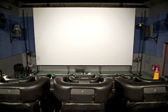 3D cinema interior Royalty Free Stock Photo