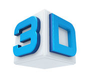 3D Cinema Logo Stock Images