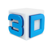 3D Cinema Logo Royalty Free Stock Photos