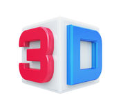 3D Cinema Logo Stock Photos
