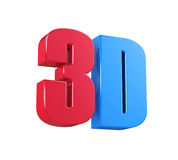 3D Cinema Logo Stock Photo