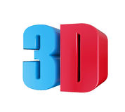 3D Cinema Logo Stock Image