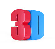 3D Cinema Logo Stock Photography