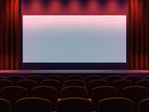 3d Cinema screen Royalty Free Stock Images
