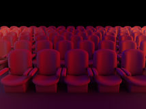3d Cinema seats Royalty Free Stock Photography