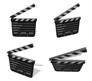 3d cinema slate range four set . 3D Icon Design Series. Stock Image