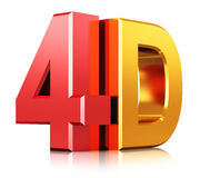 4D cinema technology symbol Royalty Free Stock Photos
