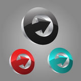 3D Circle With Arrow Royalty Free Stock Photo